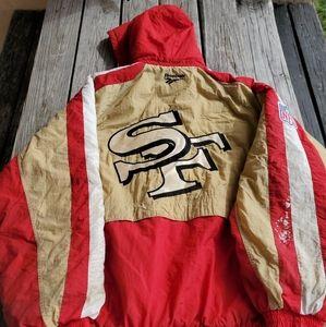 Vtg 90s Reebok San Francisco 49ers Quilted Jacket